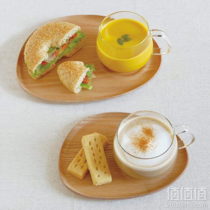 Kinto Fika 玻璃咖啡杯 带木质托盘 350ml 22588 Prime会员凑单免费直邮含税到手142.5元