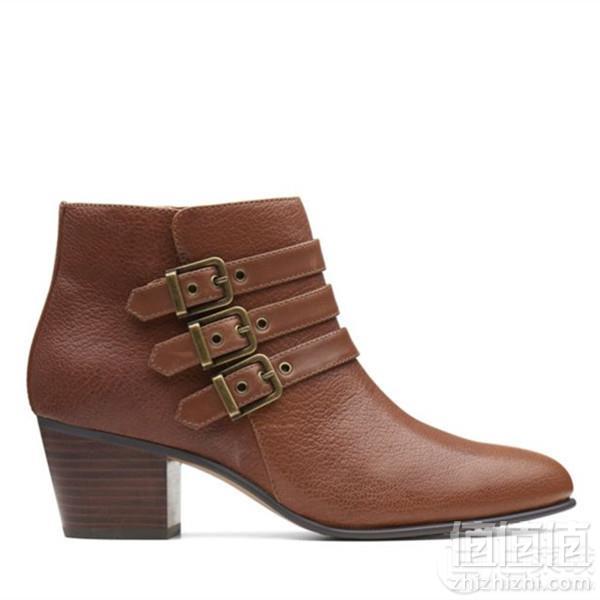 限US5码,Clarks 其乐 Maypearl Rayna 女士时尚侧拉链粗跟踝靴 Prime会员免费直邮含税到手416元