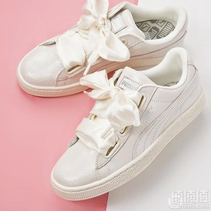 PUMA 彪马 Basket Heart NS 蝴蝶结板鞋 3色344元包邮(需领券)