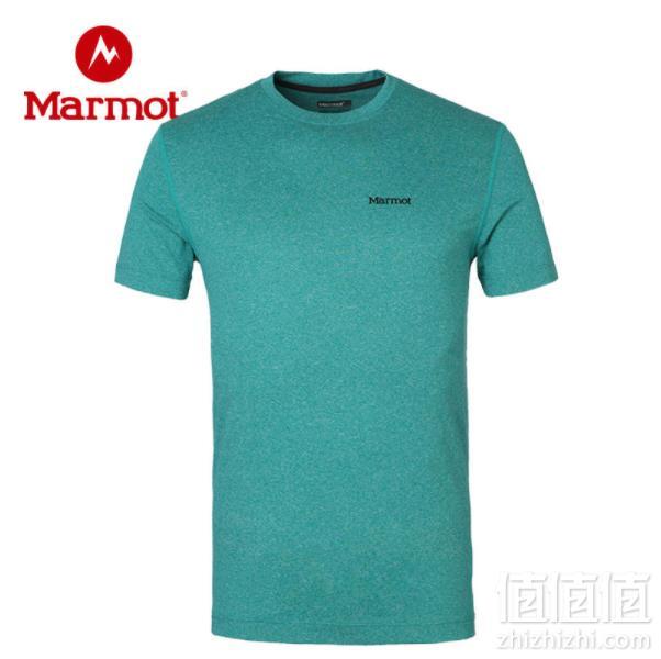 Marmot 土拨鼠 男女户外运动吸湿排汗速干短袖 F51820新低139.65元包邮