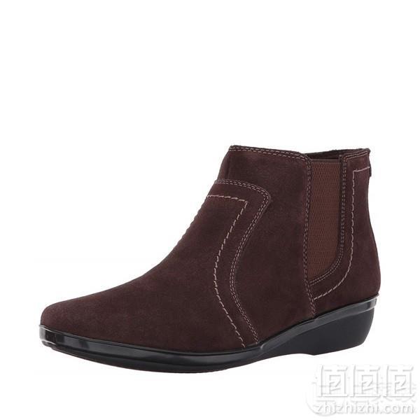 限US5码,Clarks 其乐 Everlay Leigh 女士真皮及踝短靴  Prime会员免费直邮含税到手新低208.47元