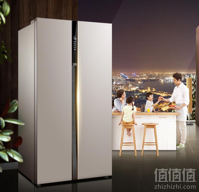 Midea 美的 BCD-621WKPZM(E) 621L 对开门冰箱 送水壶新低2999元包邮(需定金49元)