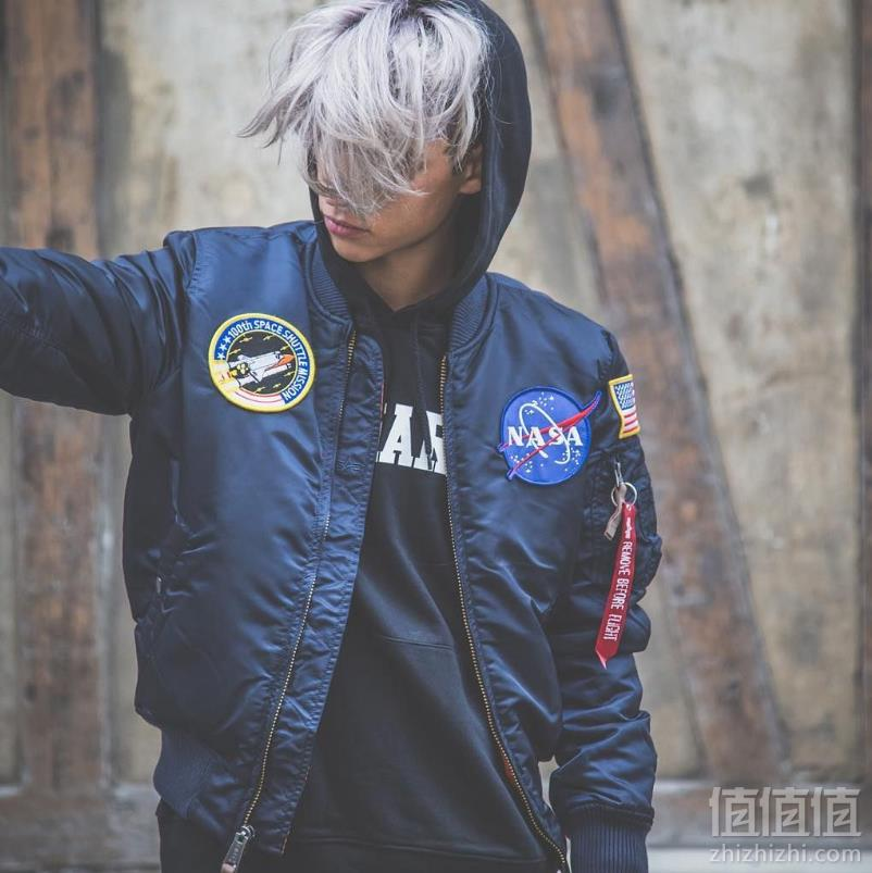 Alpha Industries 阿尔法 MA-1 男士NASA合作款飞行员夹克 Prime会员免费直邮含税到手729元