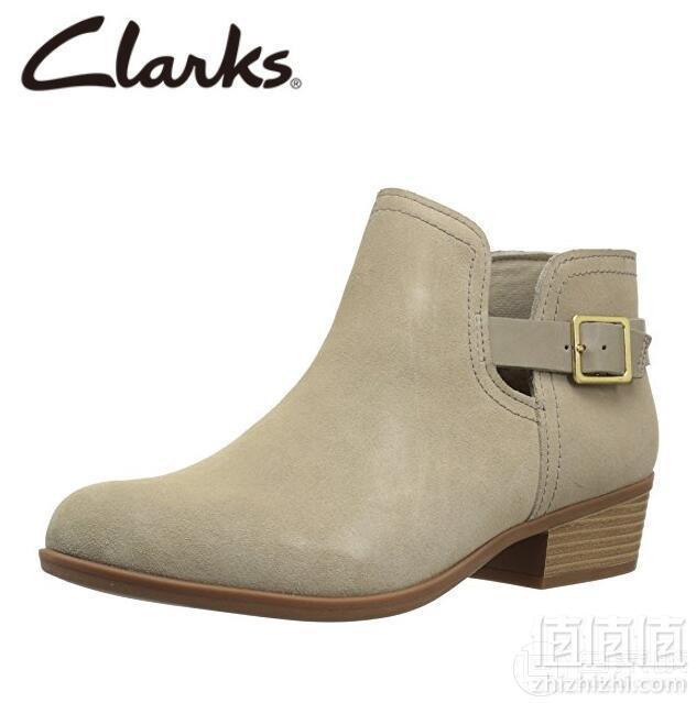 限US5.5码,Clark 其乐 addiy carisa女士真皮踝靴  Prime会员凑单免费直邮到手269元