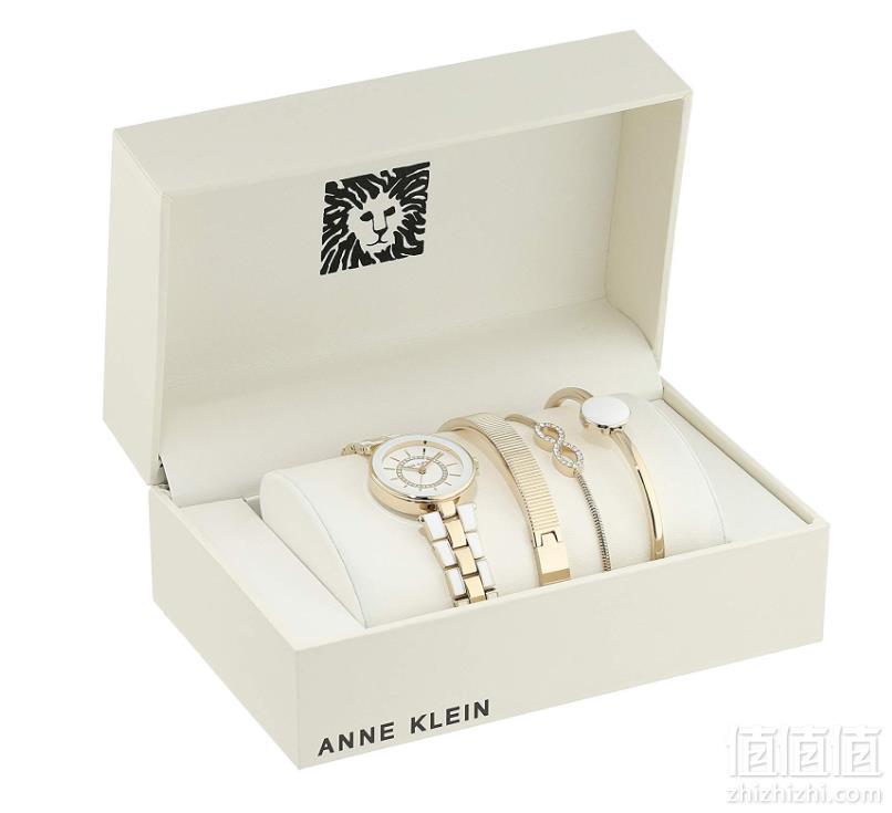 Anne Klein AK/3286WTST 女士施华洛世奇水晶 手表套装  Prime会员免费直邮含税到手383.26元