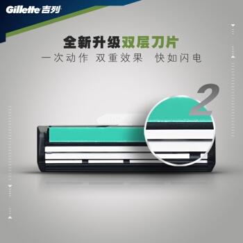 Gillette 吉列 威锋旋转双层刀片 1刀架+9刀头 *5件 图2