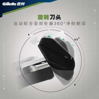 Gillette 吉列 威锋旋转双层刀片 1刀架+9刀头 *5件 图3
