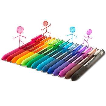 Paper Mate 缤乐美 P1 意趣速干中性笔 0.5mm 天蓝色 单支装 *3件 图4