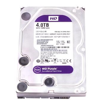 WD 西部数据 紫盘 64M 5400 监控机械硬盘 4TB 图2