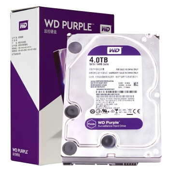 WD 西部数据 紫盘 64M 5400 监控机械硬盘 4TB 图1