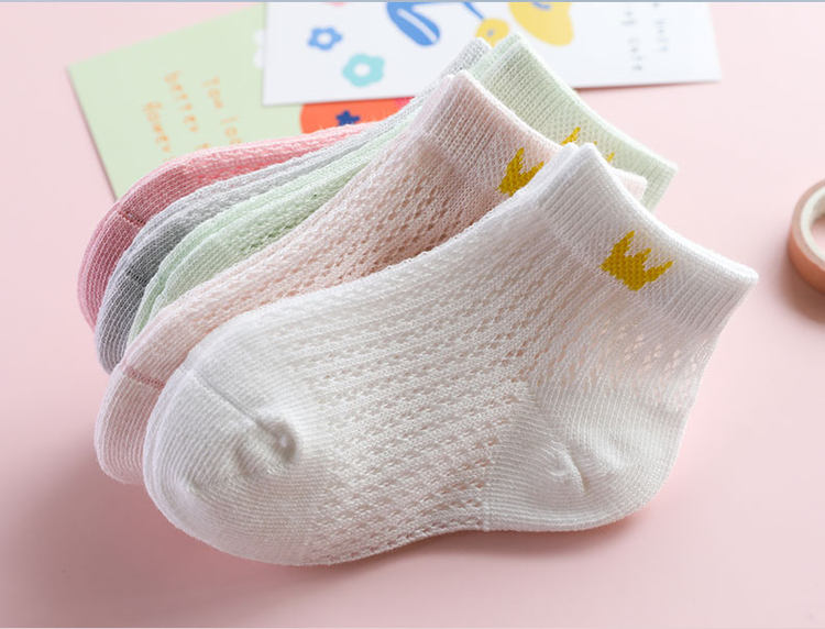 妙优童 儿童纯棉薄款中筒袜 5双装 A类 图10
