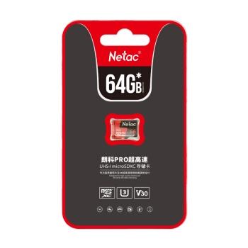 4日0点: Netac 朗科 Pro microSDXC UHS-I A1 U3 TF存储卡 64GB 图2