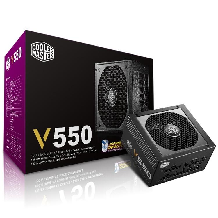 COOLERMASTER 酷冷至尊 V550 额定550W 电源(80PLUS金牌、全模组) 图1