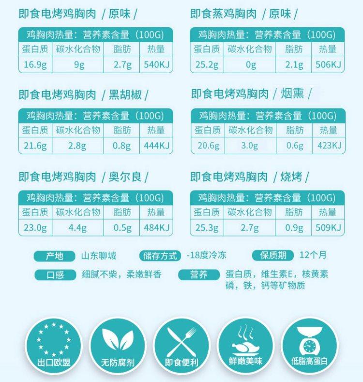 国家队食品供应商 凤祥旗下 优形 低脂即食鸡胸肉 100g*8袋 图8
