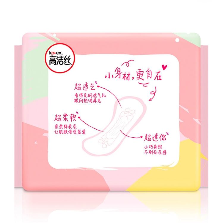 kotex 高洁丝 超薄直条护垫 190mm 10片 6件装 图5