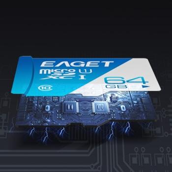 EAGET 忆捷 忆捷(EAGET)64GB TF(MicroSD)存储卡 A1 U3 V30 行车记录仪&安防监控专用内存卡 高速耐用 读速100MB/s 图5