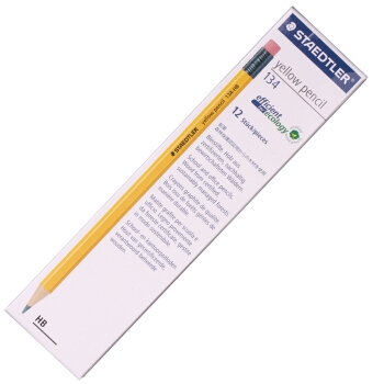 STAEDTLER 施德楼 德国施德楼(STAEDTLER)铅笔六角黄杆日常书写笔带橡皮头12支134-HB 图3