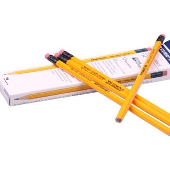 STAEDTLER 施德楼 德国施德楼(STAEDTLER)铅笔六角黄杆日常书写笔带橡皮头12支134-HB 图4