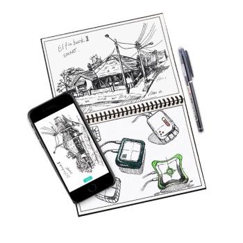 PLUS会员: ELFIN BOOK 2.0 智能可重复书写笔记本子 A5/50页 黑色 图3