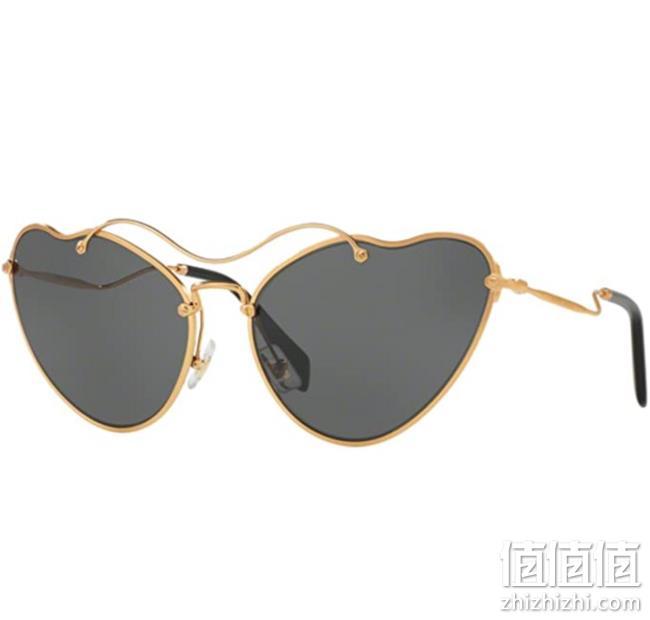 Miu Miu 缪缪 金色复古猫眼太阳眼镜 MU55RS 7OE1A1 prime直邮到手706元 值值值-买手聚集的地方