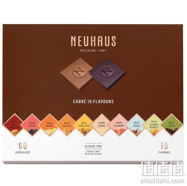 比利时皇家御用巧克力 Neuhaus 诺好事 什锦薄片巧克力礼盒 300g 195.83元包邮 值值值-买手聚集的地方