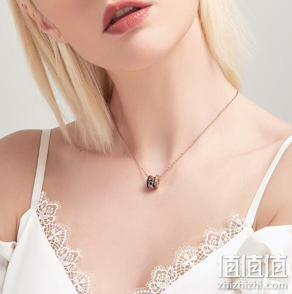 SWAROVSKI 施华洛世奇 HINT 镀玫瑰金色几何圆环项链 500.64元包邮(天猫1090元) 值值值-买手聚集的地方