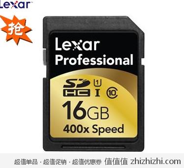Lexar 雷克沙 16GB Class 10 400X 60M/S SDHC卡 新蛋网价格149