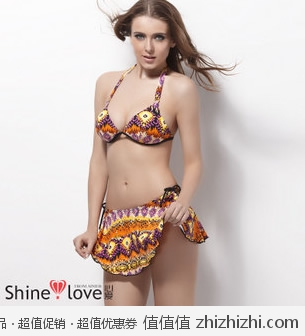 爱慕 Shine Love 心爱SUMMER泳衣配裙 SL60031 红色/黄色 京东商城价格20