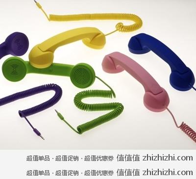创意无限:Native Union moshimoshi pop phone复古听筒/话筒 绿色 美国 Amazon 14.95美元