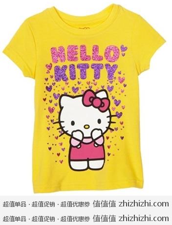 Hello Kitty 凯蒂猫 女宝宝T恤  美国 Amazon 7.68美元