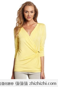 Calvin Klein 女士中袖黄色上衣 美国Amazon$36.09 海淘到手约¥279 订阅衣服类邮件还可以额外八折