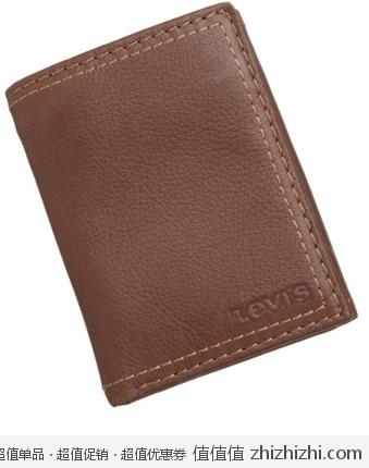 Levi's 李维斯 男士 真皮三折钱包 黑色/棕色 美国 Amazon 19.99/21.99美元