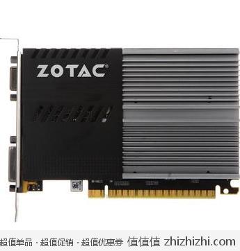 索泰 ZOTAC Geforce210-1GD3 冰铠士-LP VA 1G/64bit/DDR3 显卡  新蛋网价格185