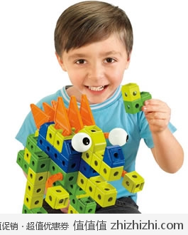 好评!费雪 Fisher Price 儿童益智恐龙积木玩具 <font color=#ff6600>可拼出三种变化</font> 美国Amazon$15.86