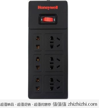 Honeywell 霍尼韦尔 SPS2006R 六位新国标插座 全长3米 <font color=#ff6600>防雷防涌</font> 易迅网上海仓价格39.9