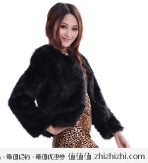 OAB2012新款仿狐狸毛女式皮草外套 天猫98.97包邮
