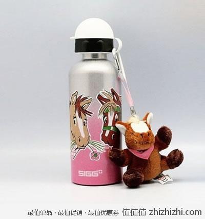 SIGG 希格 水瓶400ml 钢色拼粉色400ml 8141.00 亚马逊中国99包邮  赠小马