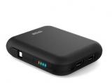 TPOS U10  移动电源(双USB输出口+内嵌充电线) 10400mAh 黑色 易迅网上海仓价格99包邮
