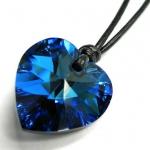 Swarovski 蓝色心型水晶吊坠项链 美国Amazon价格12.98美元 海淘到手约79RMB