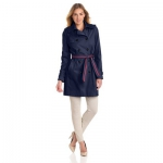 Tommy Hilfiger 女士双排扣风衣 美国Amazon价格126美元(满$100额外7折,实付88.2美元)海淘到手约588RMB126