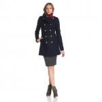 Tommy Hilfiger 军事风格女士双排羊毛呢风衣 美国Amazon价格81.99美元 海淘到手约544RMB