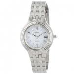 SEIKO 精工 女士时尚不锈钢光动能表 银色 SUT015 美国亚马逊86美元