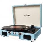 复古又时尚!Crosley CR8005A-TU 湖蓝色便携式黑胶唱片机 Amazon价格