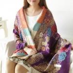 RGLT 2014秋冬新款民族风加厚加大女士围巾披肩 天猫价格