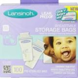销量冠军:Lansinoh 母乳保鲜袋 防泄漏安全密封100片装 美国 Amazon
