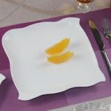 欧式正方形纯白盘子