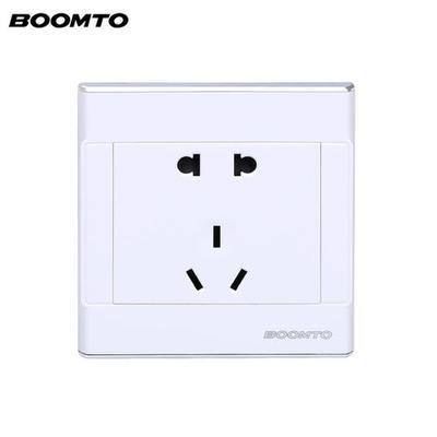 BOOMTO 开关插座 镀银边框 5孔插座 1.5元