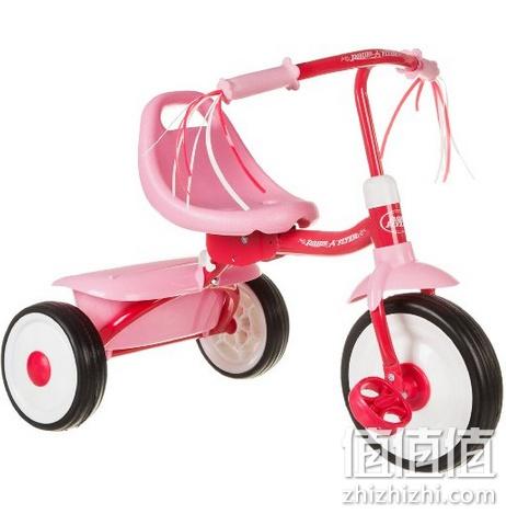 Radio Flyer 雷德福来尔 粉色 折叠式三轮车 亚马逊中国价格
