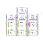 ABC纯棉日用+夜用组合卫生巾 10包
