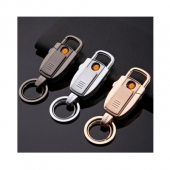 DSY(dashiye)201 汽车钥匙扣,多功能充电打火机创意礼品黑色